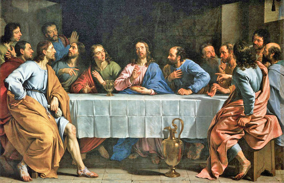 Philippe de Champaigne of Brussels, Belgium - The Last Supper of Christ, Musee du Louvre, Paris, 1652.