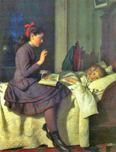 Seymour Joseph Guy - The Bedtime Story, New York, 1878.